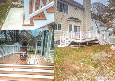 Large Bi-Level Trex-Deck in Scotch Plains, NJ