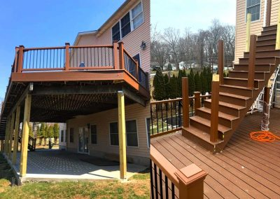 Second-Story Huge Trex Deck with Balcony in Livingston, NJ