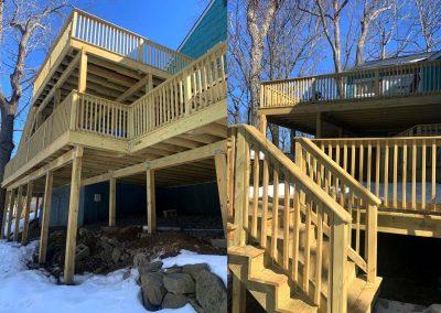 Huge Double-Story Wood-Deck in Morristown, NJ